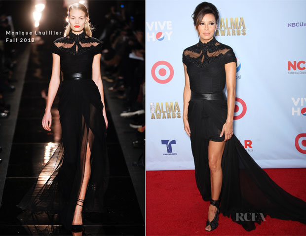 Eva Longoria In Monique Lhuillier - 2012 ALMA Awards