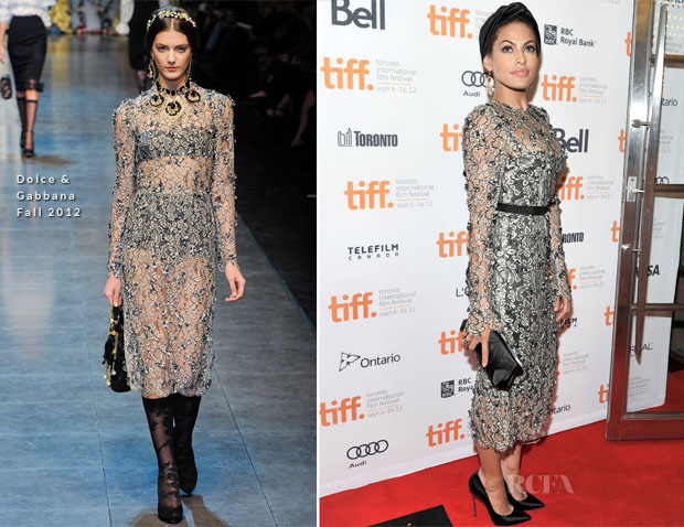 Eva Mendes In Dolce & Gabbana - 'The Place Beyond The Pines' Toronto Film Festival Premiere