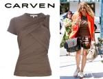 Fergie's Carven Asymmetric Drape Top