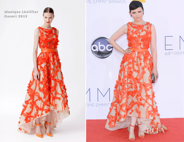 Ginnifer Goodwin In Monique Lhuillier - 2012 Emmy Awards