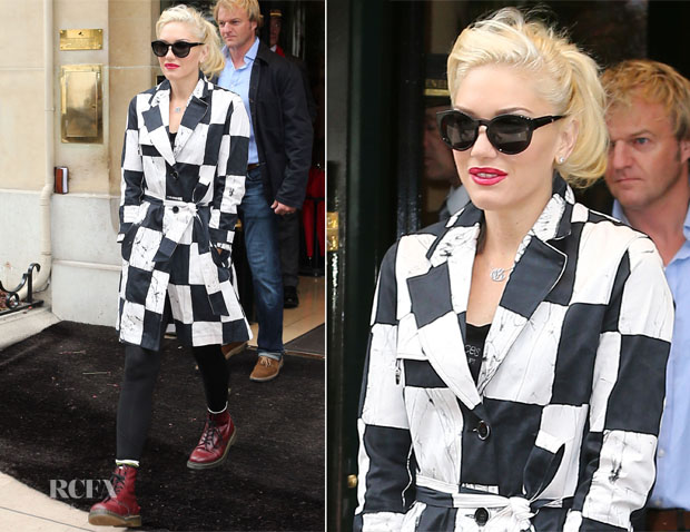 Gwen Stefani In Kelly Wearstler - St Pancras Station