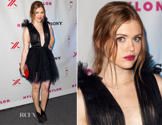 Holland Roden In Maria Lucia Hohan - NYLON September TV Issue Party
