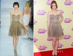 Holland Roden In Pamella Roland - 2012 MTV Video Music Awards