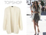 Jamie Chung's Topshop Knitted Plain Grill Cardigan