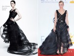January Jones In Zac Posen - 2012 Emmy Awards