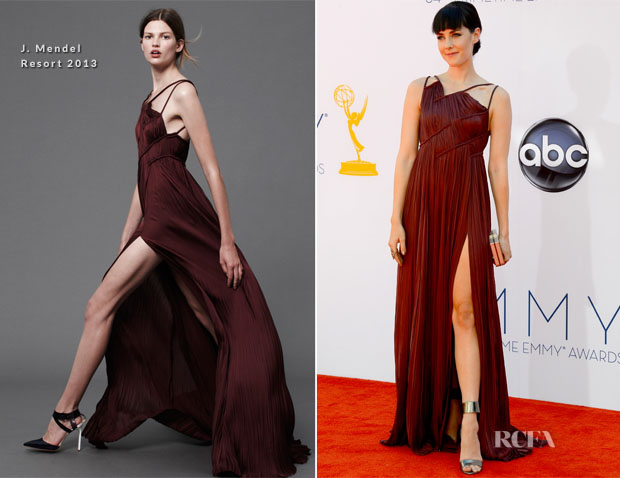 Jena Malone In J Mendel - 2012 Emmy Awards