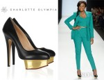 Jennifer Hudson's Charlotte Olympia Dolly Platform Pumps