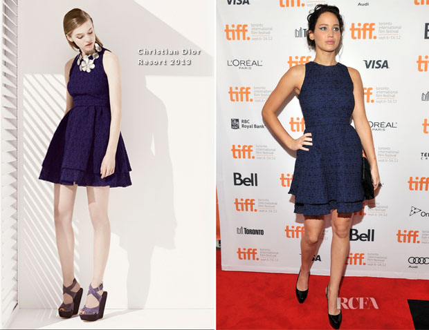 Jennifer Lawrence In Christian Dior - 'The Place Beyond The Pines' Toronto Film Festival Premiere