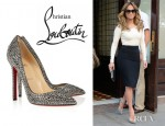 Jennifer Lopez' Christian Louboutin Pigalle Crystal Embellished Pumps