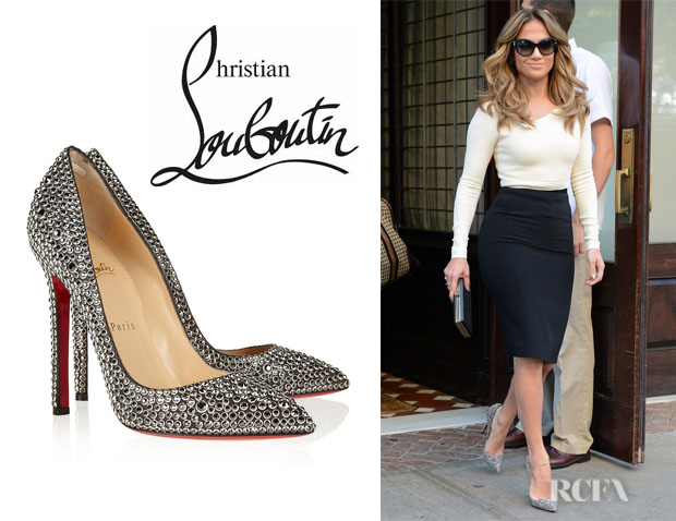 christian louboutin crystal embellished pumps