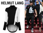 Jennifer Lopez' Helmut Lang Melangé Knit Turtleneck Sweater