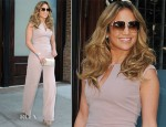 Jennifer Lopez In MaxMara - Out In New York City