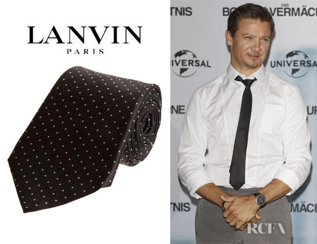 Jeremy Renner's Lanvin Pin Dot Tie