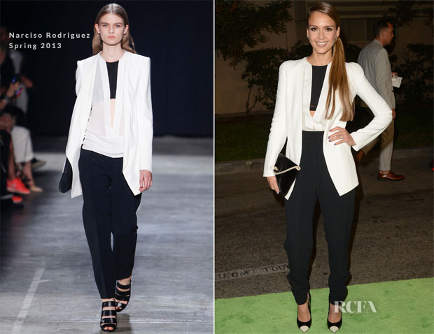 Jessica Alba In Narciso Rodriguez - 2012 Environmental Media Awards