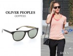 Jessica Alba's Oliver Peoples Daddy B Polarized Sunglasses