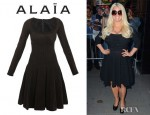 Jessica Simpson's Azzedine Alaia Vitrail Textured Dress