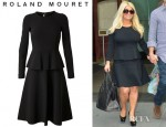 Jessica Simpson's Roland Mouret Barnicles Tiered Stretch Crepe Dress