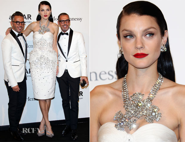 Jessica Stam In Dsquared² - amfAR Benefit Gala 2012