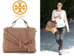 Jordana Brewster's Tory Burch 797 Large Satchel