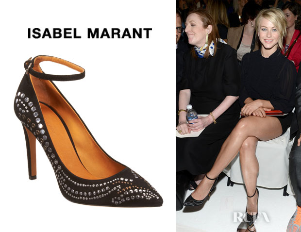 Julianne Hough's Isabel Marant Stanley Studded Suede Pumps
