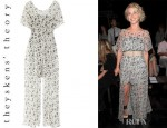Julianne Hough's Theyskens' Theory Dystal Floral Print Silk Chiffon Maxi Dress