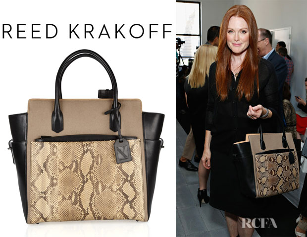 Julianne Moore's Reed Krakoff Atlantique Python And Leather Tote