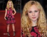Juno Temple In Alexander McQueen - 'Anna Karenina' London Premiere