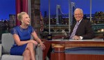 Kaley Cuoco In Collette Dinnigan - Late Show With David Letterman