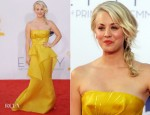 Kaley Cuoco In Angel Sanchez - 2012 Emmy Awards