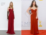 Kat Dennings In J. Mendel - 2012 Emmy Awards
