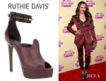 Kat Graham's Ruthie Davis Olympic Peep Toe Pumps