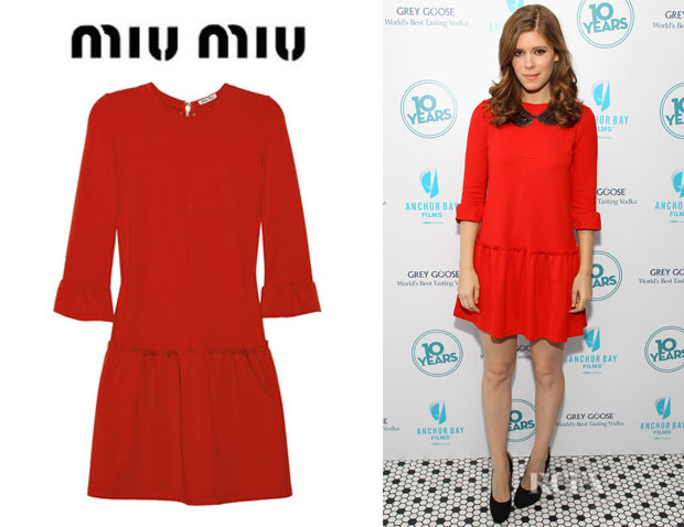 Kate Mara's Miu Miu Flared Stretch Jersey Dress