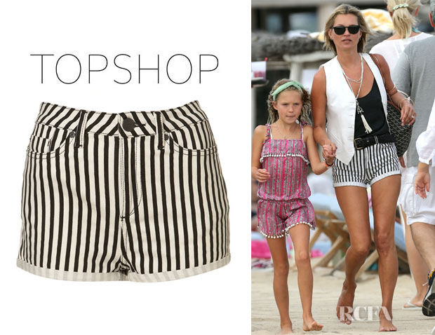 Kate Moss' Topshop Moto Washed Stripe Hotpants