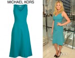 Kate Upton's Michael Kors Asymmetrical Panel Dress