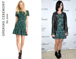 Katy Perry's Opening Ceremony Ruffled T-Shirt Dress