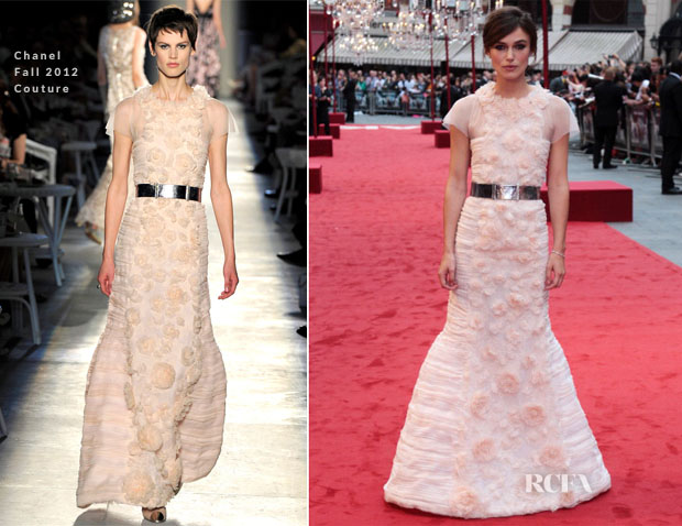 Keira Knightley In Chanel - 'Anna Karenina' London Premiere