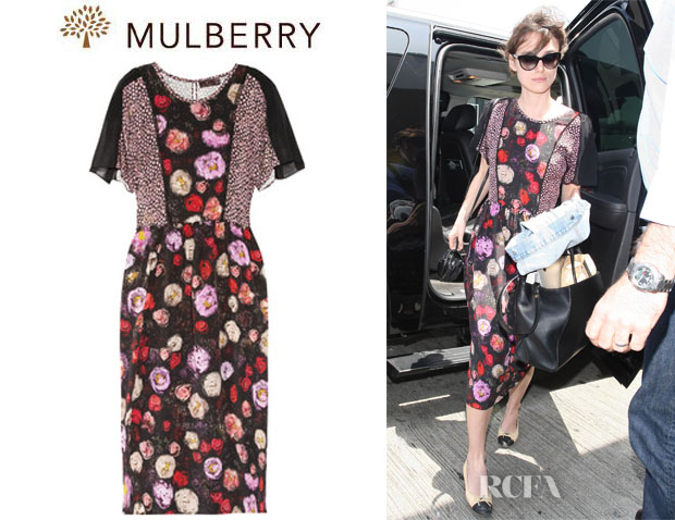 Keira Knightley's Mulberry Floral Print Silk Midi Dress