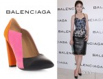 Kelly Chen's Balenciaga Tri-Colour Cut Out Shoes