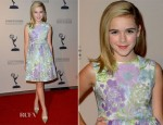 Kiernan Shipka In Oscar de la Renta - The Academy of Television Arts & Sciences Writer Nominees' 64th Primetime Emmy Awards Reception