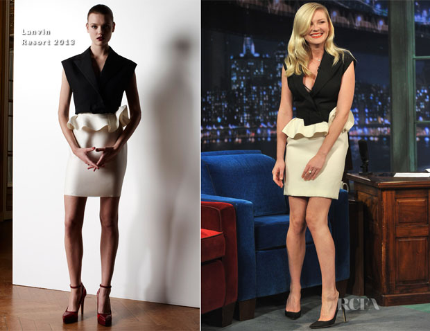 Kirsten Dunst In Lanvin - 'Late Night With Jimmy Fallon'
