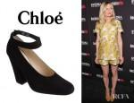 Kirsten Dunst's Chloé High Cut Ankle Strap Pumps