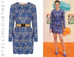 Kristen Stewart's Stella McCartney Celia Guipure Lace And Crepe Mini Dress