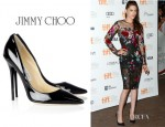 Kristen Stewart's Jimmy Choo Anouk Patent Leather Pumps