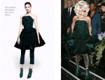 Lady Gaga In Alexander McQueen - Philip Treacy Front Row