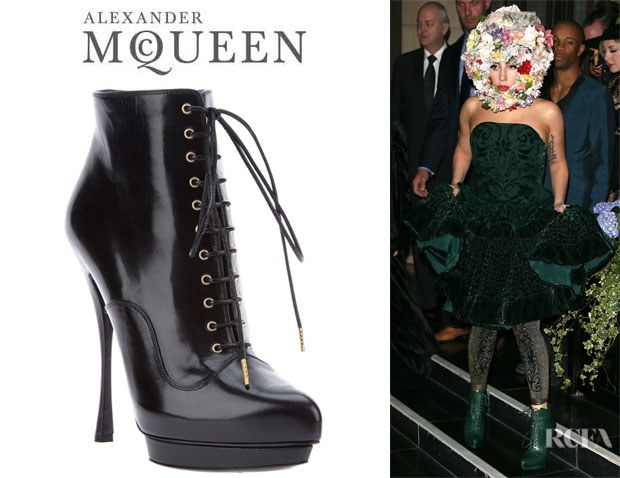 Lady Gaga's Alexander McQueen Lace-Up Boots