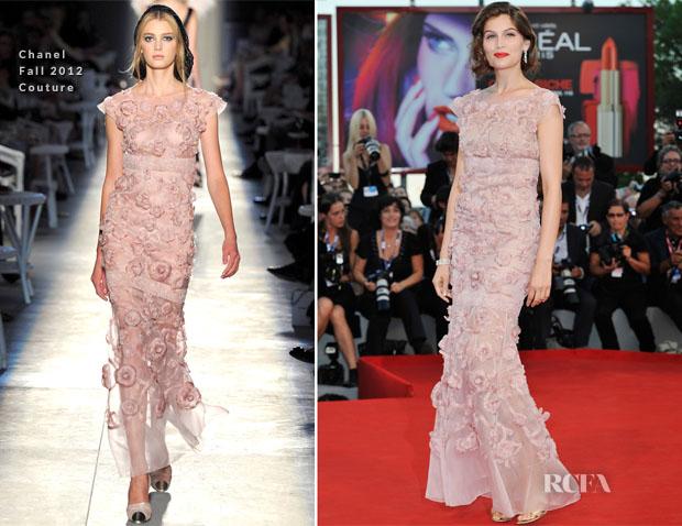 Laetitia Casta In Chanel Couture - 'L'Homme Qui Rit' Venice Film Festival Premiere