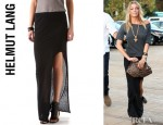 LeAnn Rimes' Helmut Kinetic Side Slit Maxi Skirt
