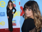 Lea Michele In Versace - 'Glee' Season 4 LA Premiere Screening