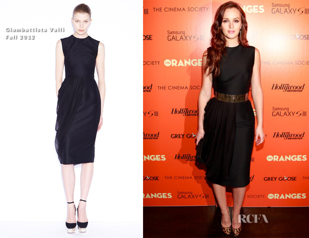 Leighton Meester In Giambattista Valli -  'The Oranges' New York Screening