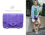 Leighton Meester's Proenza Schouler PS1 Leather Wallet-On-Chain